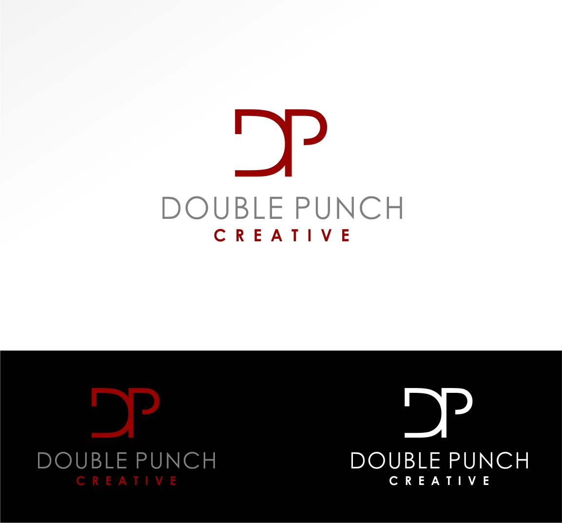 Logo Design by haidu - Entry No. 155 in the Logo Design Contest Unique Logo Design Wanted for Double Punch Creative.