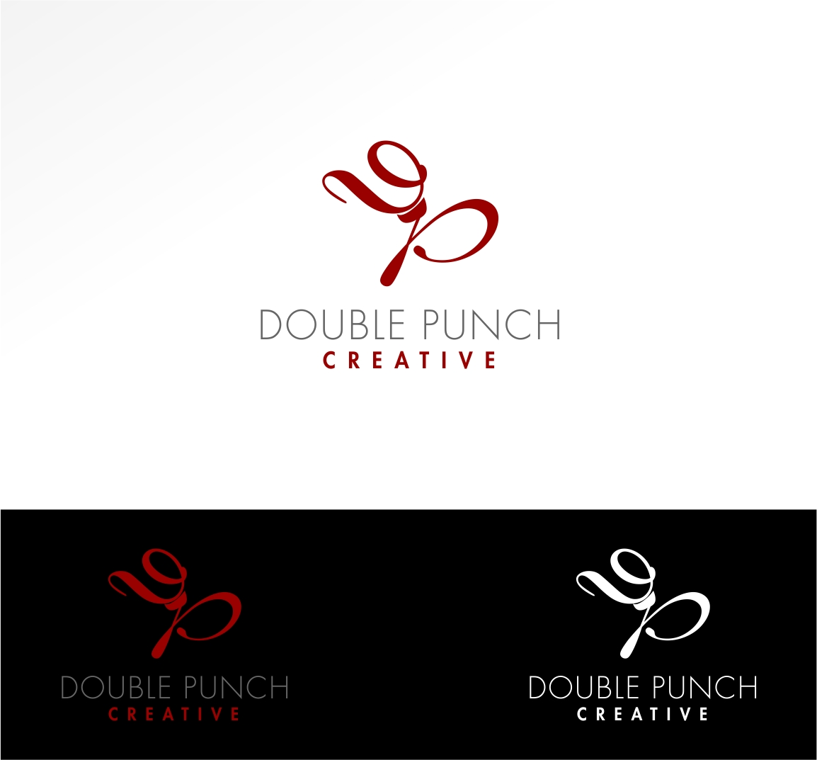 Logo Design by haidu - Entry No. 162 in the Logo Design Contest Unique Logo Design Wanted for Double Punch Creative.