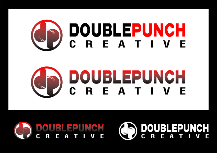 Logo Design by RasYa Muhammad Athaya - Entry No. 168 in the Logo Design Contest Unique Logo Design Wanted for Double Punch Creative.