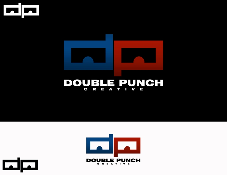 Logo Design by Juan_Kata - Entry No. 178 in the Logo Design Contest Unique Logo Design Wanted for Double Punch Creative.