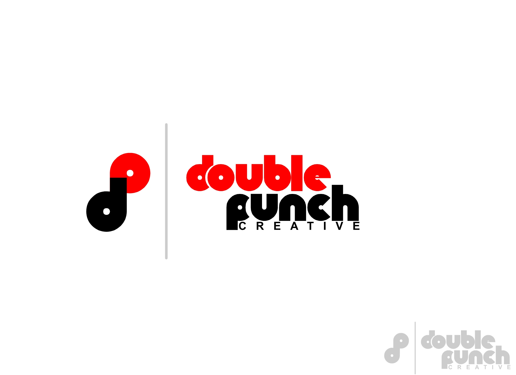 Logo Design by Private User - Entry No. 186 in the Logo Design Contest Unique Logo Design Wanted for Double Punch Creative.