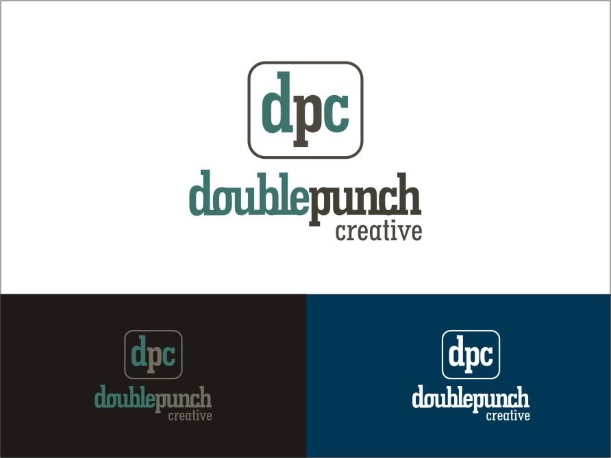 Logo Design by RED HORSE design studio - Entry No. 203 in the Logo Design Contest Unique Logo Design Wanted for Double Punch Creative.