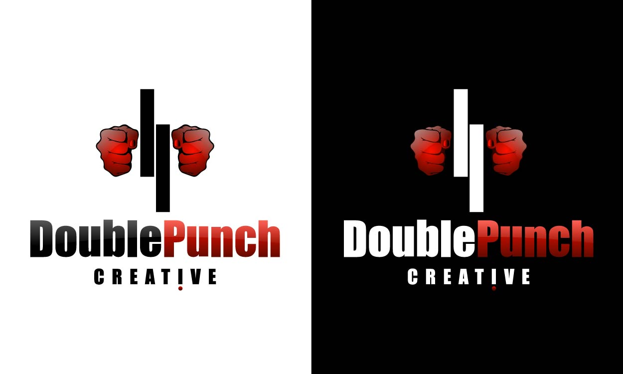 Logo Design by Asif Khan - Entry No. 214 in the Logo Design Contest Unique Logo Design Wanted for Double Punch Creative.
