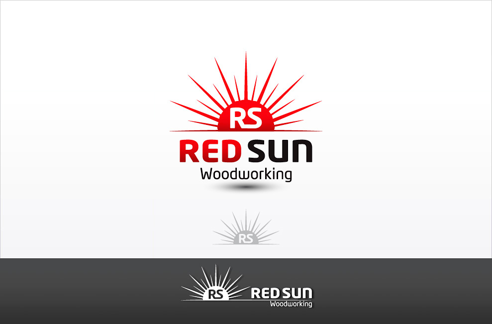 Logo Design by Private User - Entry No. 3 in the Logo Design Contest Red Sun Woodworking Logo Design.