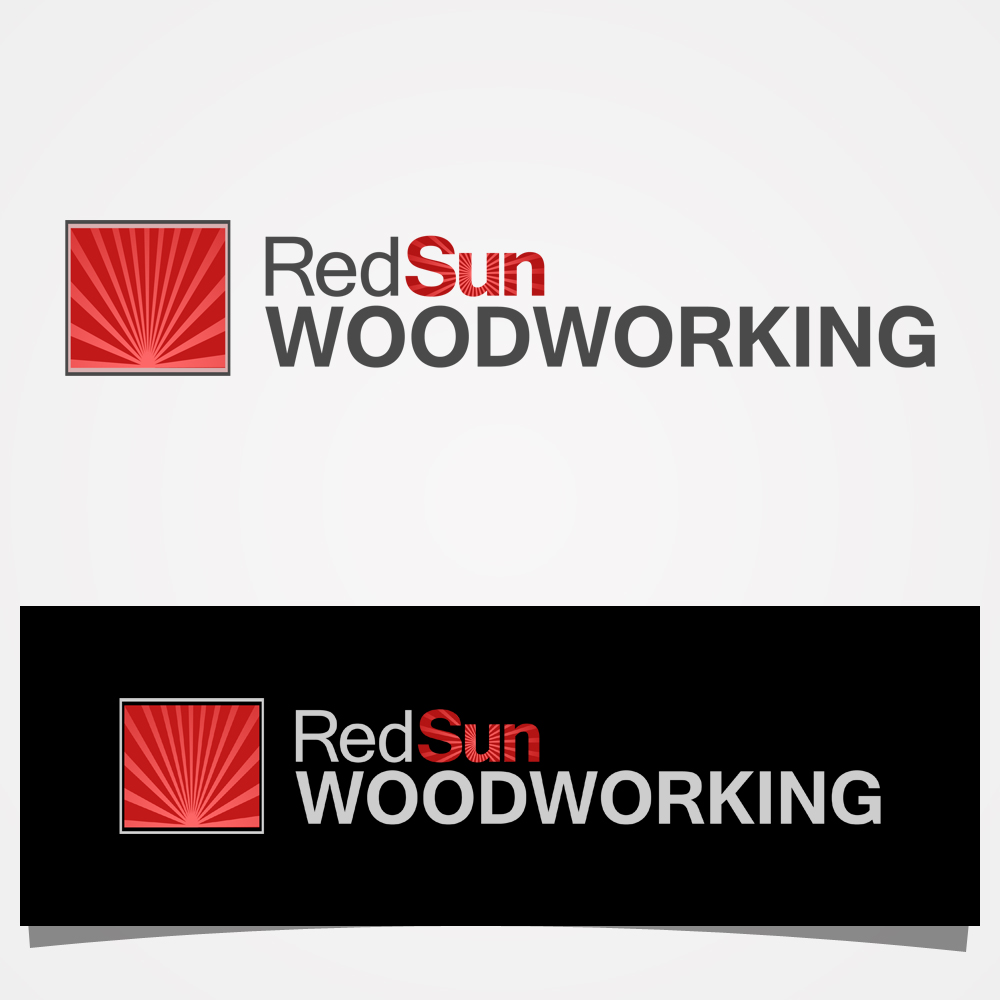 Logo Design by omARTist - Entry No. 5 in the Logo Design Contest Red Sun Woodworking Logo Design.