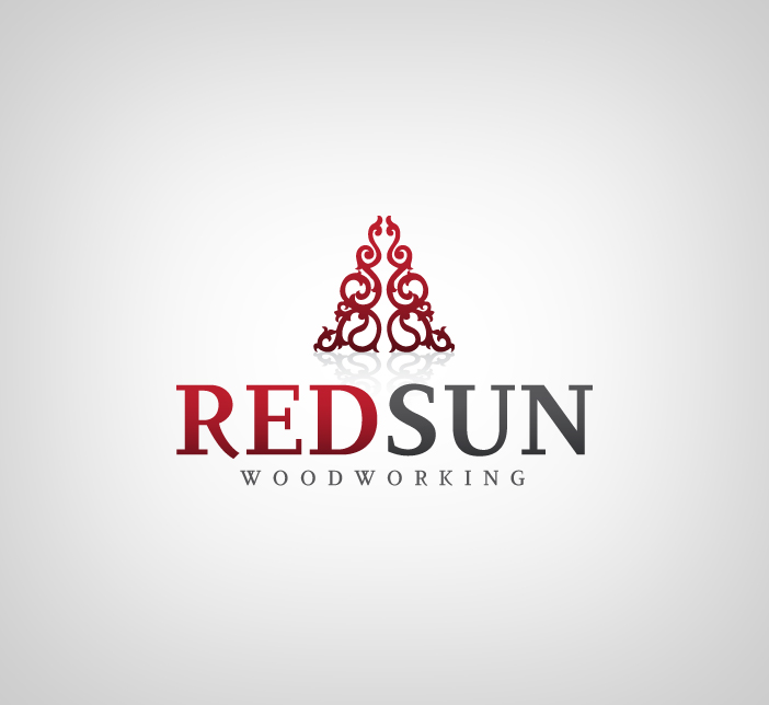 Logo Design by nausigeo - Entry No. 6 in the Logo Design Contest Red Sun Woodworking Logo Design.