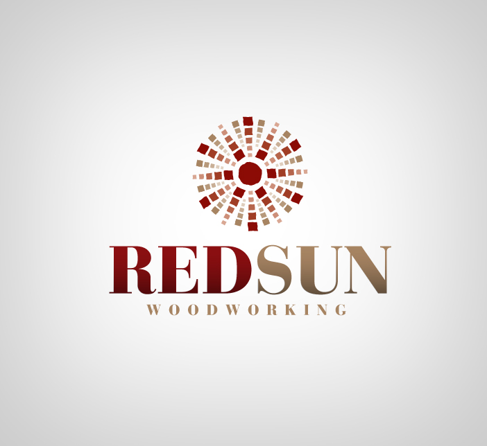 Logo Design by nausigeo - Entry No. 9 in the Logo Design Contest Red Sun Woodworking Logo Design.