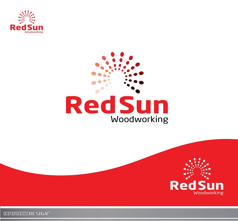 Logo Design by kowreck - Entry No. 11 in the Logo Design Contest Red Sun Woodworking Logo Design.