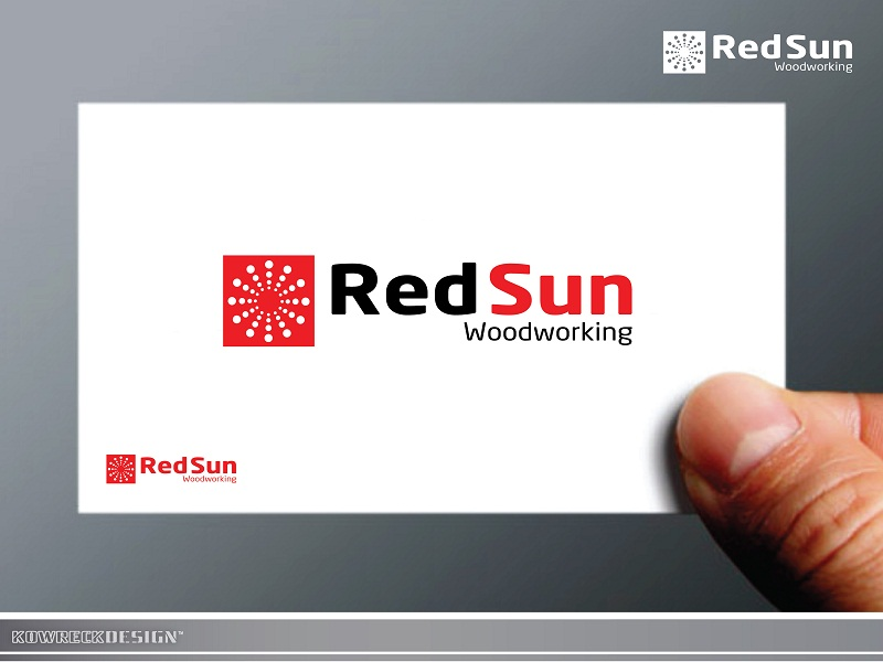 Logo Design by kowreck - Entry No. 12 in the Logo Design Contest Red Sun Woodworking Logo Design.