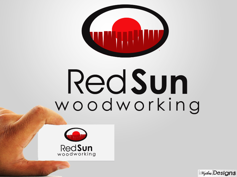 Logo Design by Mythos Designs - Entry No. 14 in the Logo Design Contest Red Sun Woodworking Logo Design.