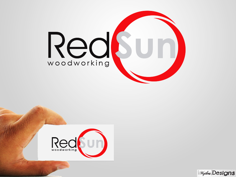 Logo Design by Mythos Designs - Entry No. 15 in the Logo Design Contest Red Sun Woodworking Logo Design.