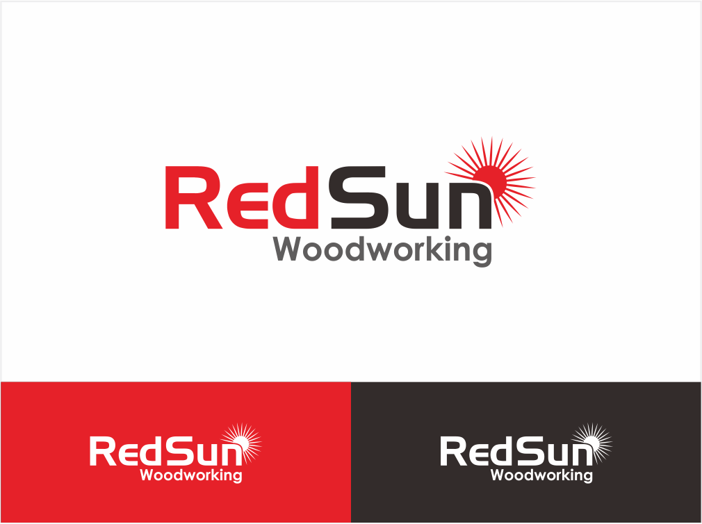 Logo Design by ninisdesign - Entry No. 17 in the Logo Design Contest Red Sun Woodworking Logo Design.
