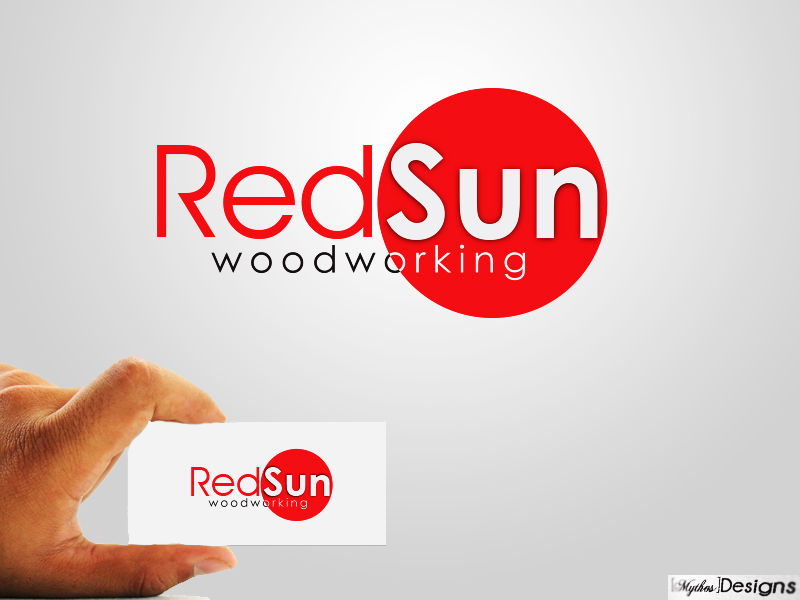 Logo Design by Mythos Designs - Entry No. 18 in the Logo Design Contest Red Sun Woodworking Logo Design.