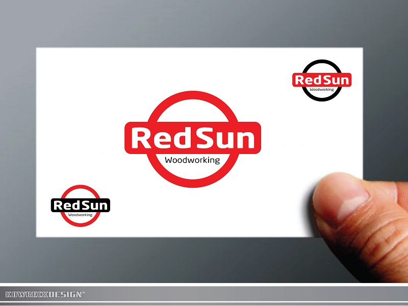 Logo Design by kowreck - Entry No. 19 in the Logo Design Contest Red Sun Woodworking Logo Design.
