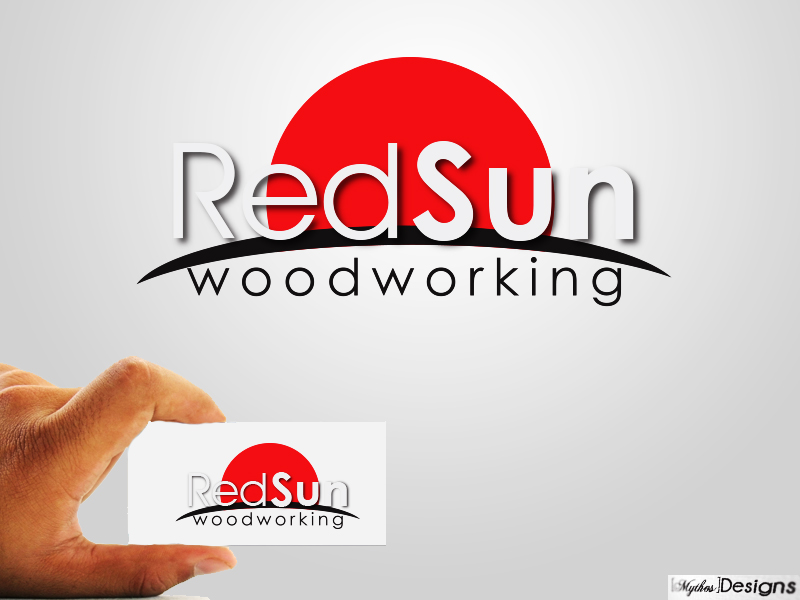 Logo Design by Mythos Designs - Entry No. 24 in the Logo Design Contest Red Sun Woodworking Logo Design.