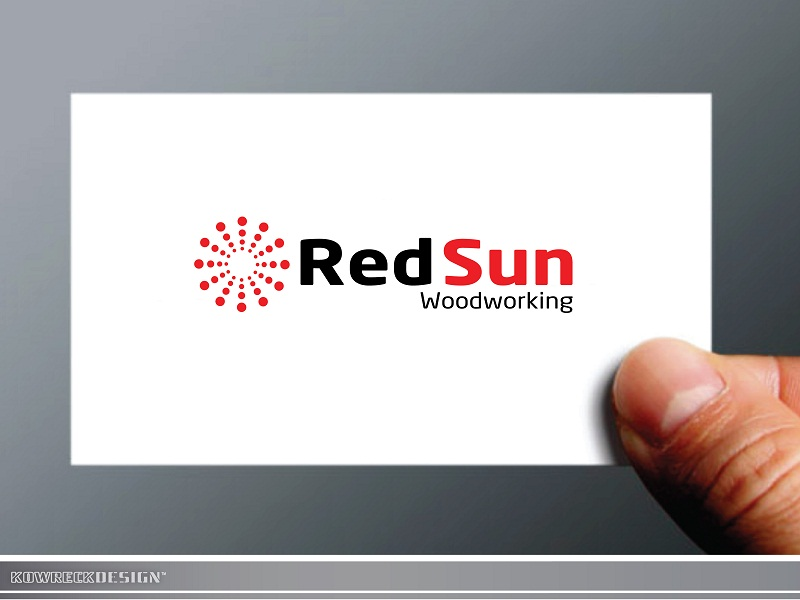 Logo Design by kowreck - Entry No. 29 in the Logo Design Contest Red Sun Woodworking Logo Design.