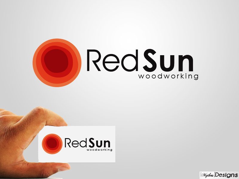 Logo Design by Mythos Designs - Entry No. 30 in the Logo Design Contest Red Sun Woodworking Logo Design.