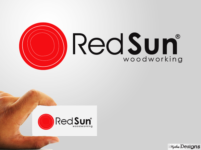 Logo Design by Mythos Designs - Entry No. 31 in the Logo Design Contest Red Sun Woodworking Logo Design.