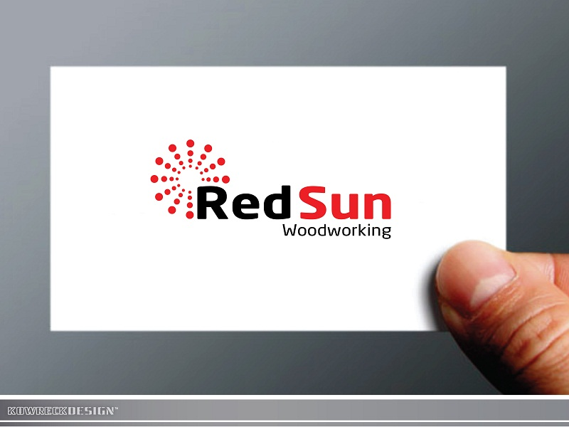 Logo Design by kowreck - Entry No. 32 in the Logo Design Contest Red Sun Woodworking Logo Design.