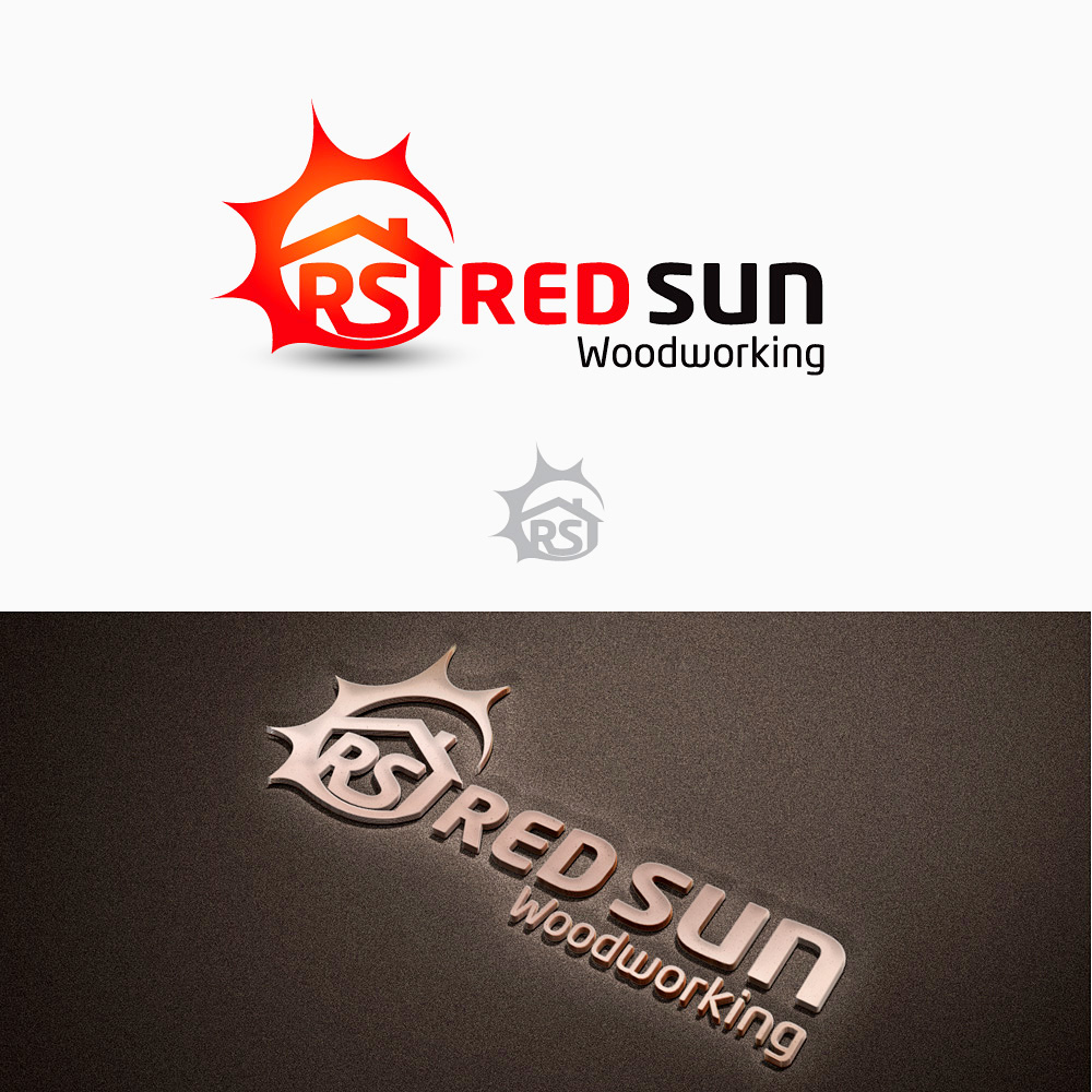 Logo Design by Private User - Entry No. 42 in the Logo Design Contest Red Sun Woodworking Logo Design.