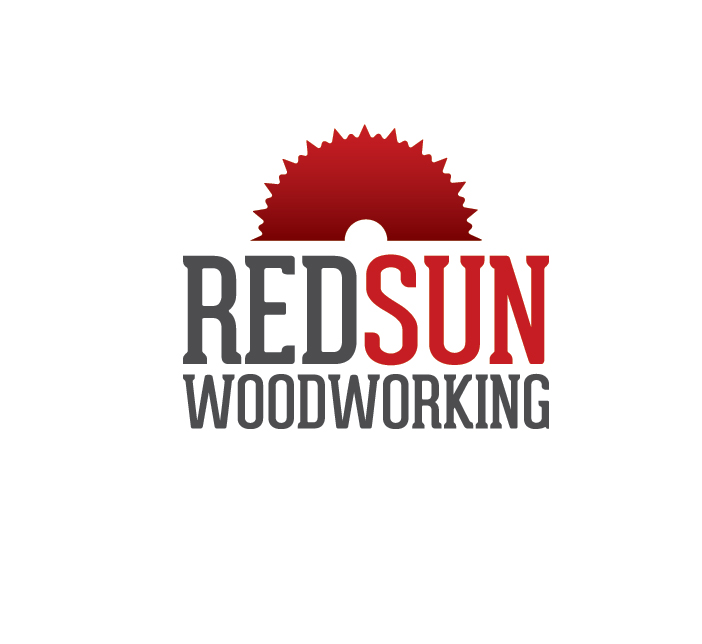 Logo Design by Dimitris Koletsis - Entry No. 43 in the Logo Design Contest Red Sun Woodworking Logo Design.