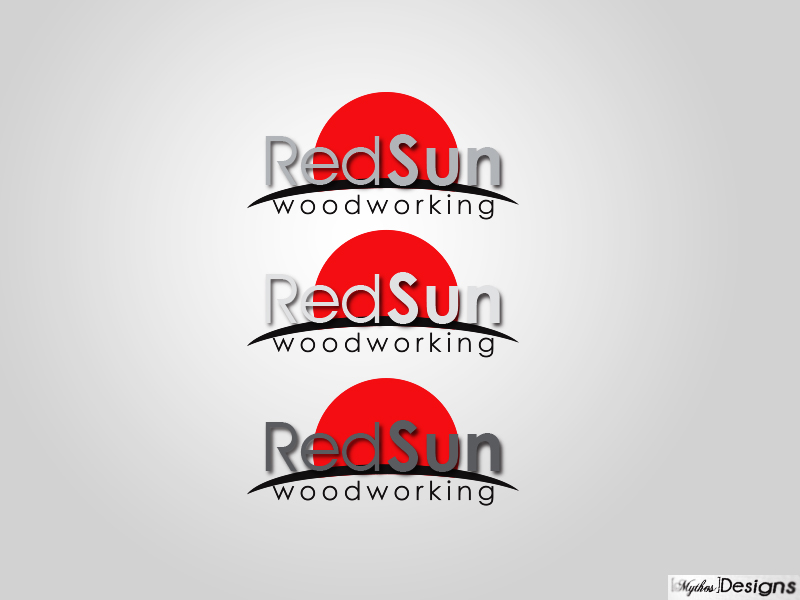 Logo Design by Mythos Designs - Entry No. 44 in the Logo Design Contest Red Sun Woodworking Logo Design.