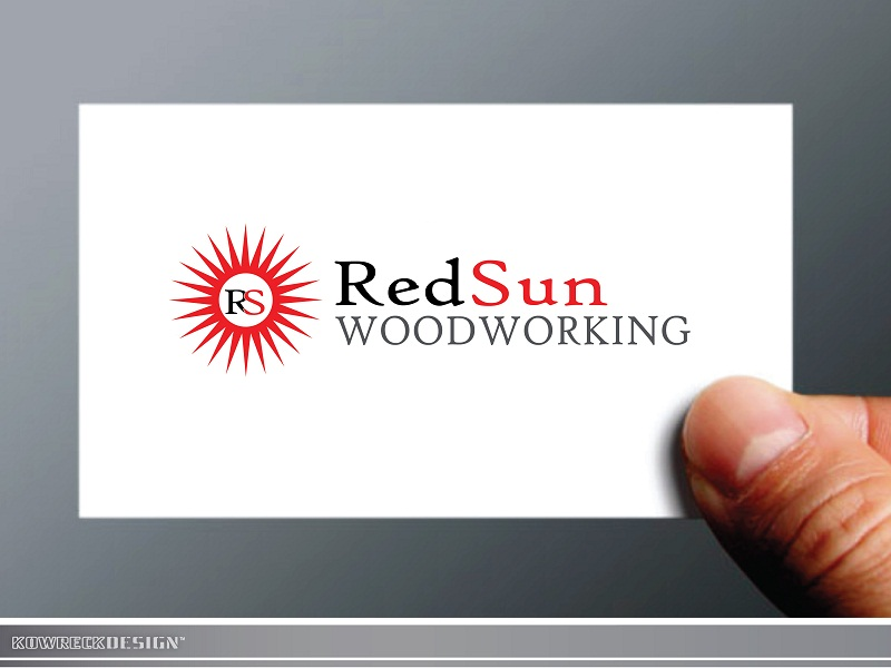 Logo Design by kowreck - Entry No. 46 in the Logo Design Contest Red Sun Woodworking Logo Design.