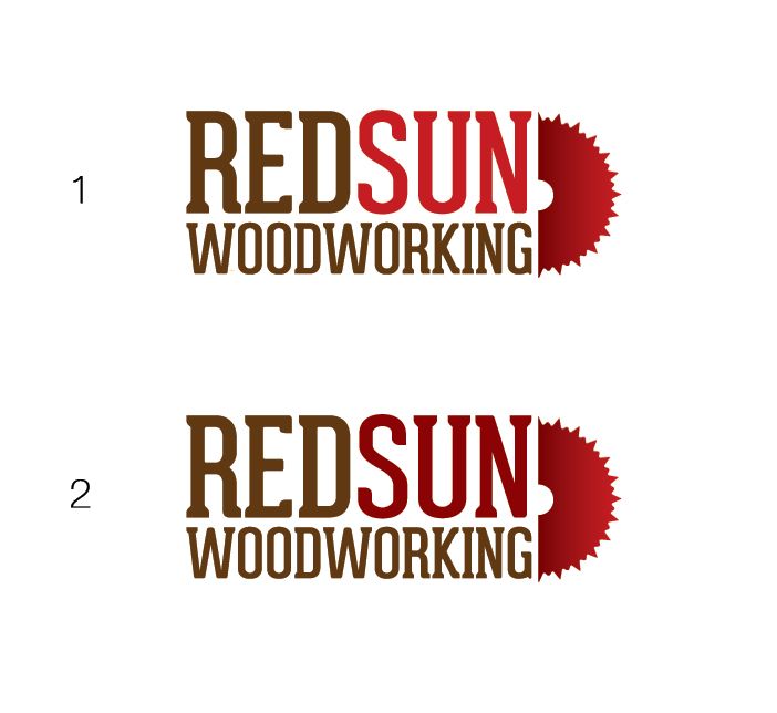 Logo Design by Dimitris Koletsis - Entry No. 50 in the Logo Design Contest Red Sun Woodworking Logo Design.