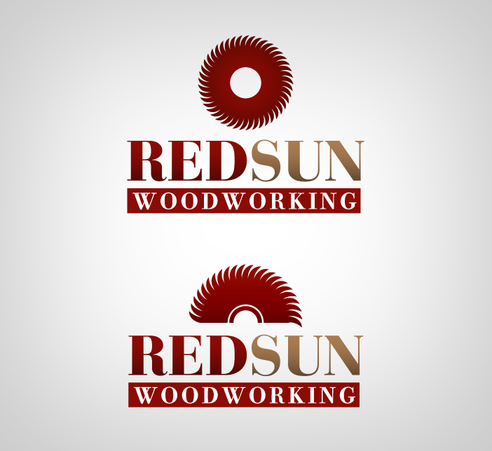 Logo Design by nausigeo - Entry No. 51 in the Logo Design Contest Red Sun Woodworking Logo Design.