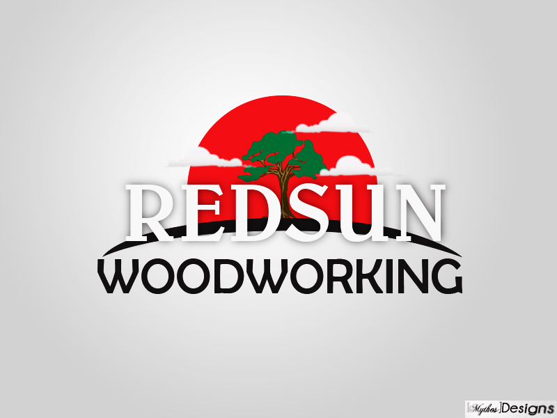 Logo Design by Mythos Designs - Entry No. 52 in the Logo Design Contest Red Sun Woodworking Logo Design.