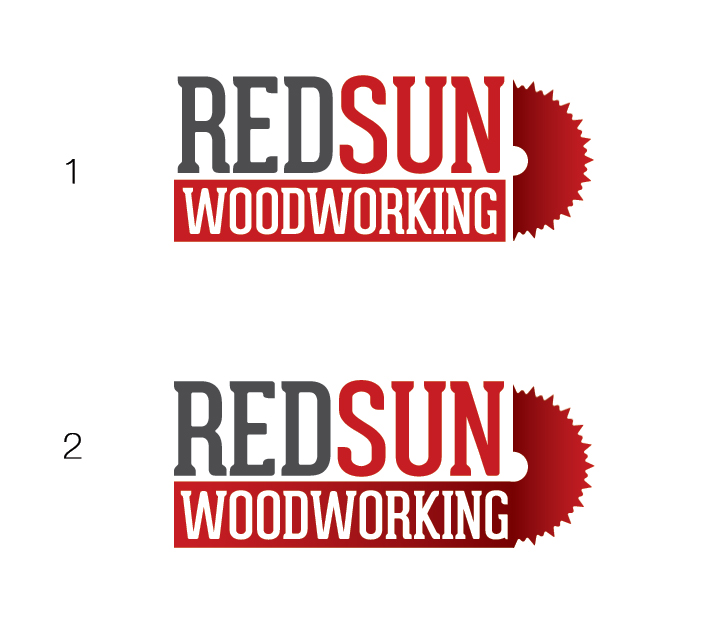 Logo Design by Dimitris Koletsis - Entry No. 53 in the Logo Design Contest Red Sun Woodworking Logo Design.