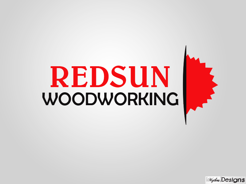 Logo Design by Mythos Designs - Entry No. 54 in the Logo Design Contest Red Sun Woodworking Logo Design.
