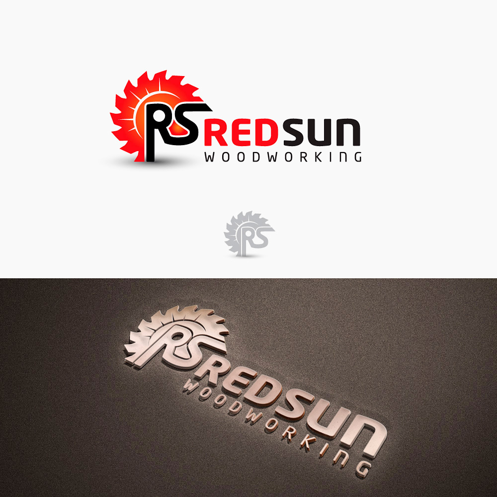 Logo Design by Private User - Entry No. 56 in the Logo Design Contest Red Sun Woodworking Logo Design.