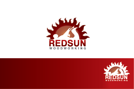 Logo Design by Private User - Entry No. 73 in the Logo Design Contest Red Sun Woodworking Logo Design.