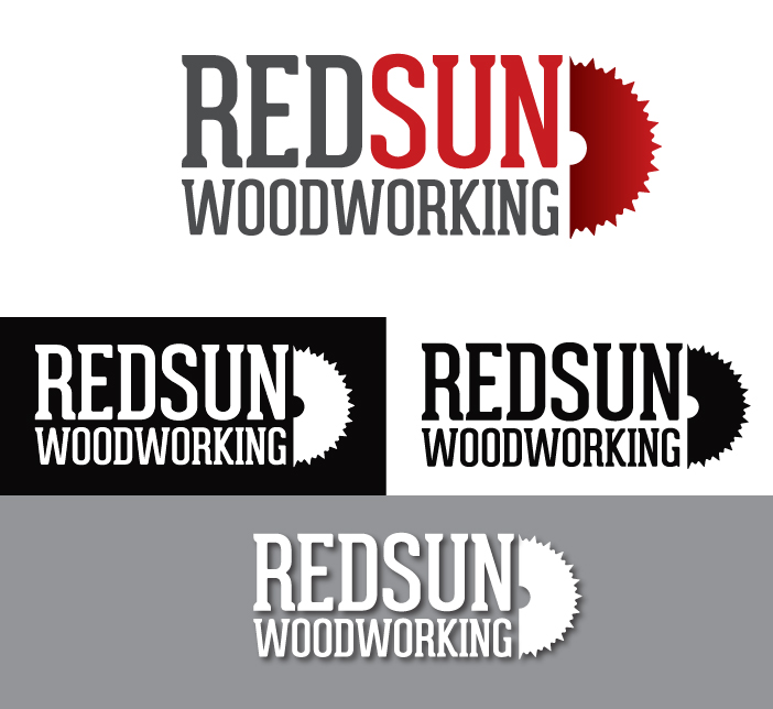 Logo Design by Dimitris Koletsis - Entry No. 76 in the Logo Design Contest Red Sun Woodworking Logo Design.