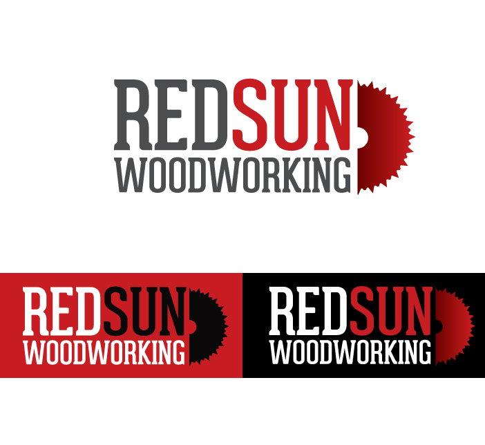 Logo Design by Dimitris Koletsis - Entry No. 77 in the Logo Design Contest Red Sun Woodworking Logo Design.