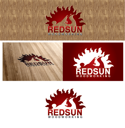 Logo Design by Private User - Entry No. 80 in the Logo Design Contest Red Sun Woodworking Logo Design.