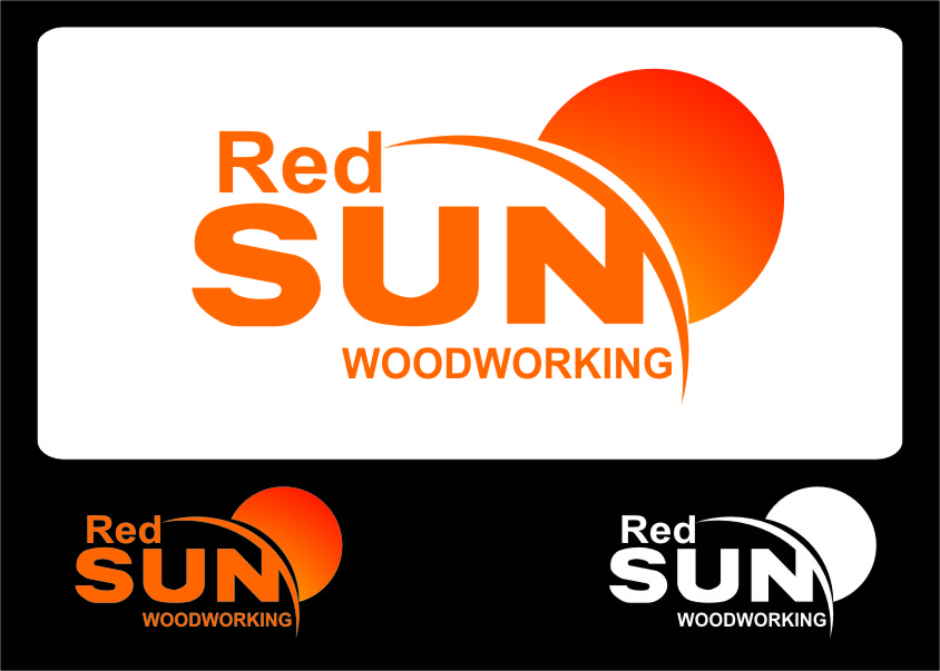Logo Design by Ngepet_art - Entry No. 82 in the Logo Design Contest Red Sun Woodworking Logo Design.