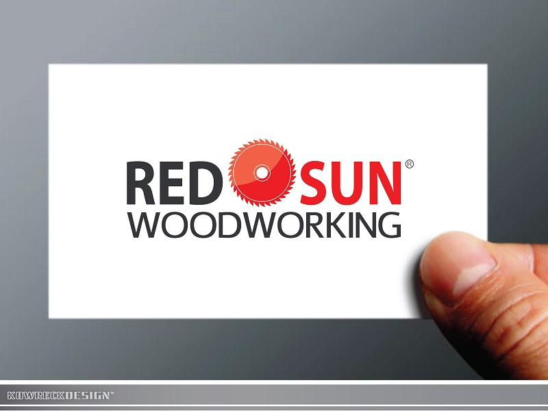 Logo Design by kowreck - Entry No. 94 in the Logo Design Contest Red Sun Woodworking Logo Design.