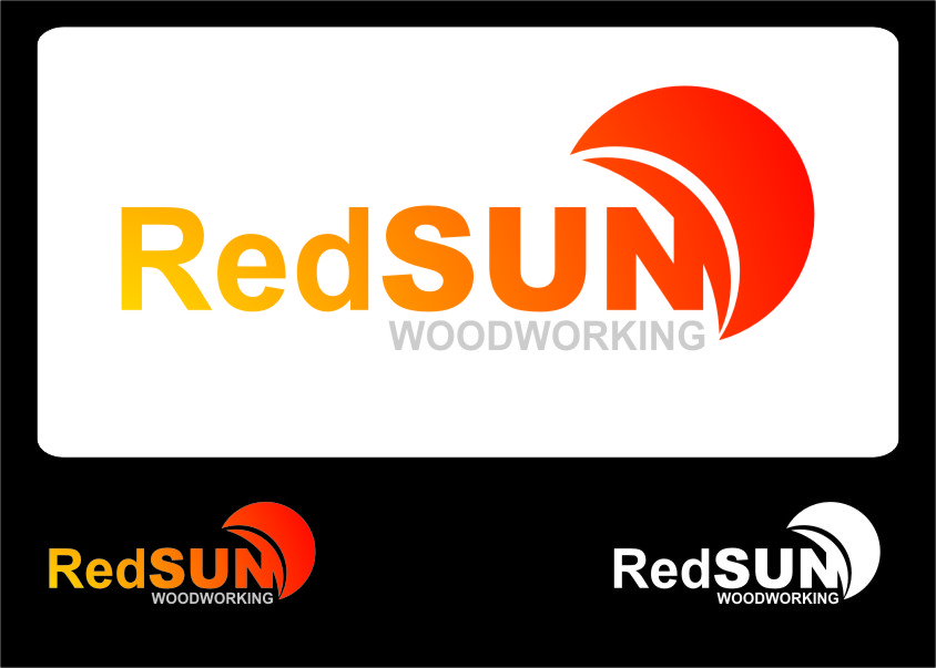Logo Design by Ngepet_art - Entry No. 107 in the Logo Design Contest Red Sun Woodworking Logo Design.