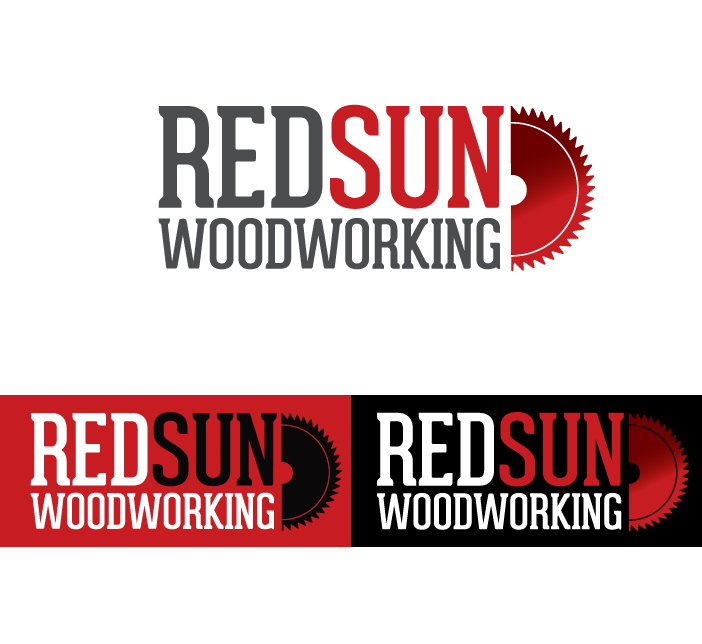 Logo Design by Dimitris Koletsis - Entry No. 108 in the Logo Design Contest Red Sun Woodworking Logo Design.