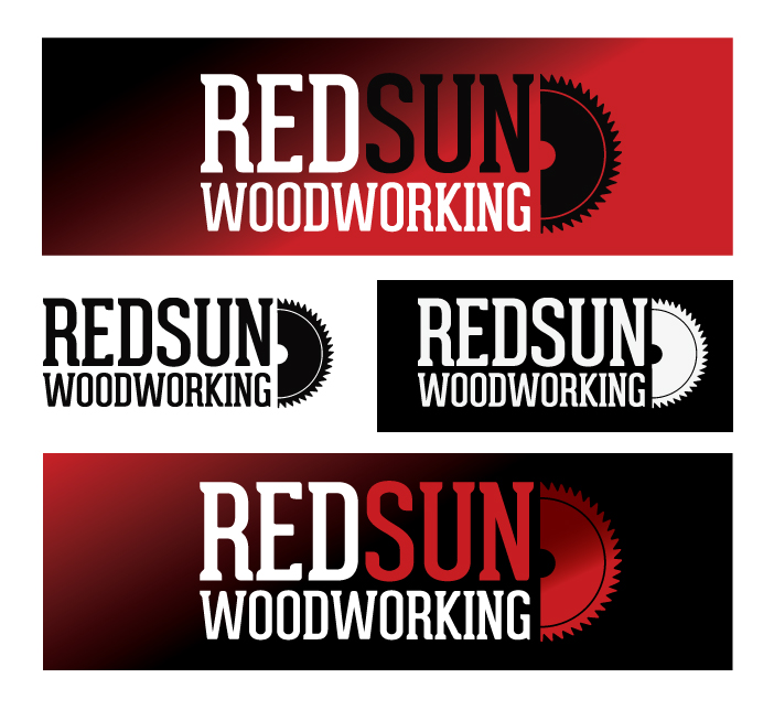 Logo Design by Dimitris Koletsis - Entry No. 109 in the Logo Design Contest Red Sun Woodworking Logo Design.