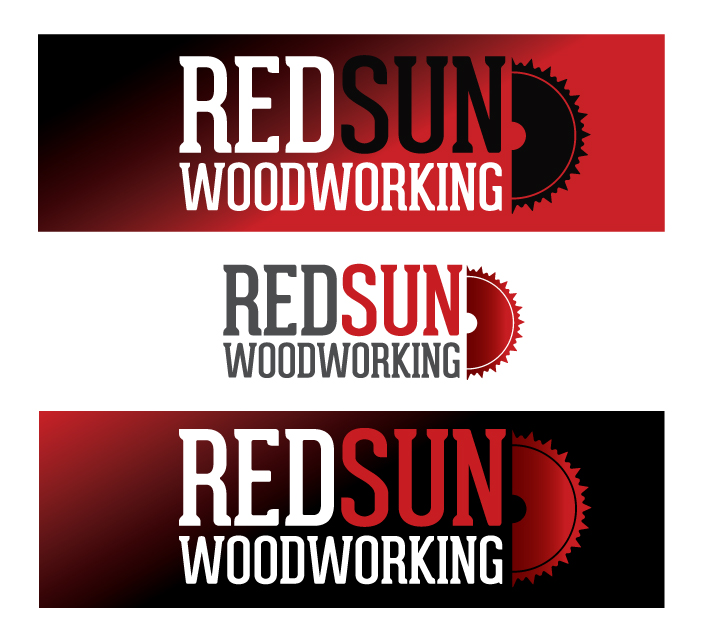 Logo Design by Dimitris Koletsis - Entry No. 110 in the Logo Design Contest Red Sun Woodworking Logo Design.