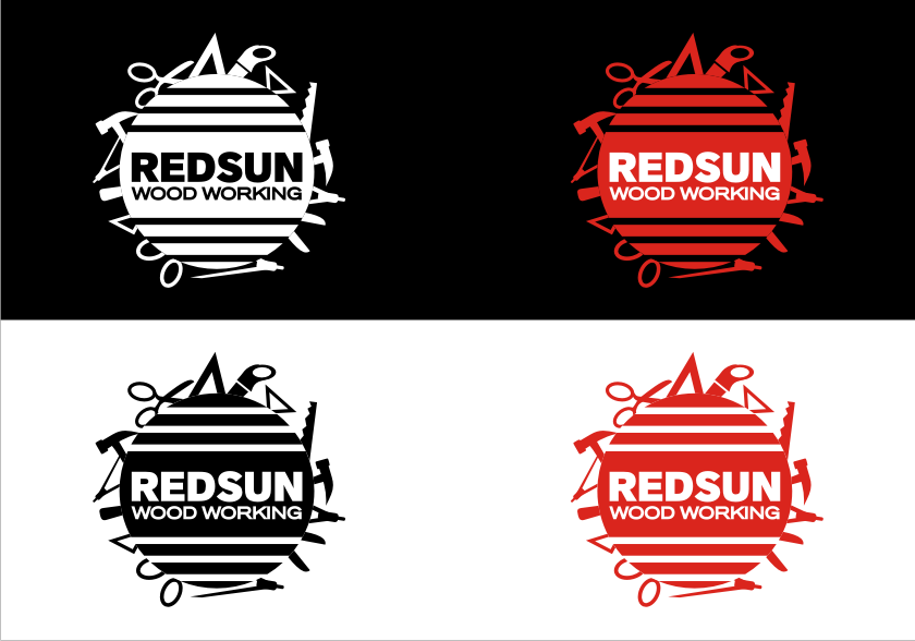 Logo Design by graphicleaf - Entry No. 113 in the Logo Design Contest Red Sun Woodworking Logo Design.