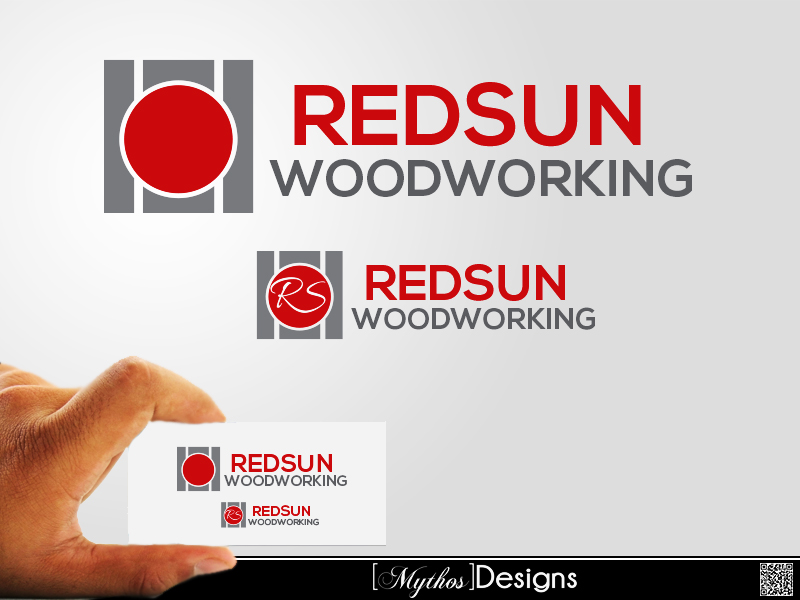 Logo Design by Mythos Designs - Entry No. 115 in the Logo Design Contest Red Sun Woodworking Logo Design.