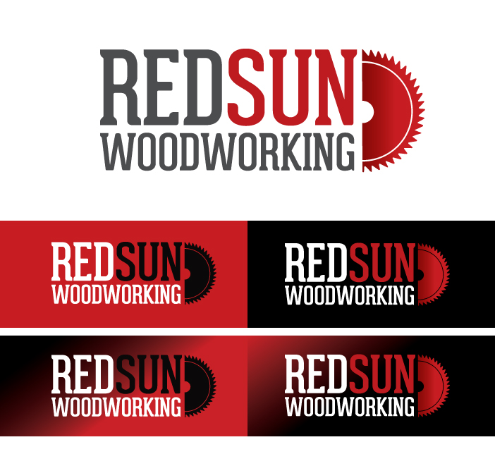 Logo Design by Dimitris Koletsis - Entry No. 120 in the Logo Design Contest Red Sun Woodworking Logo Design.