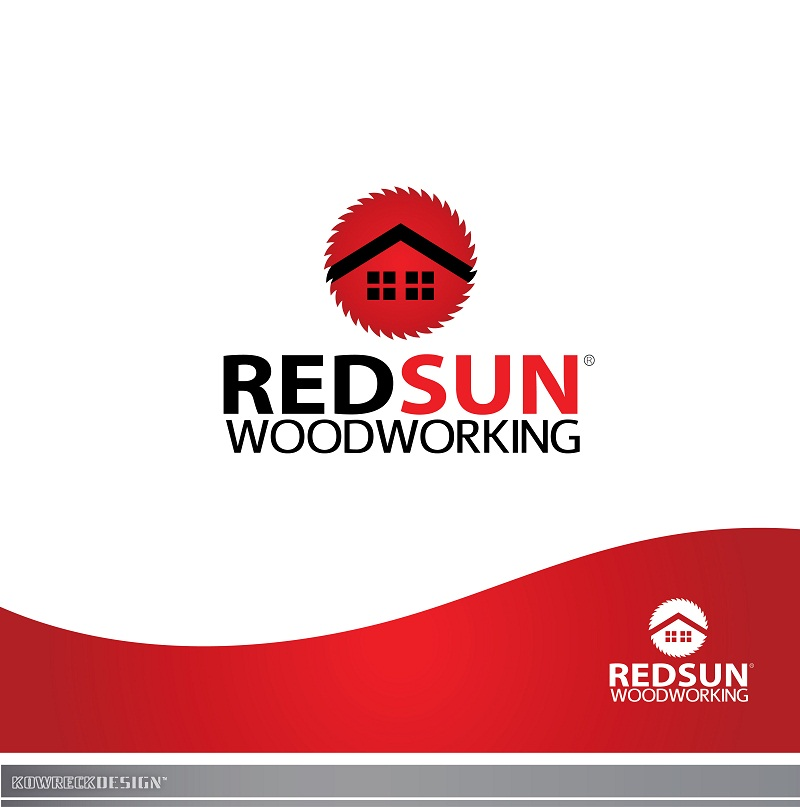 Logo Design by kowreck - Entry No. 122 in the Logo Design Contest Red Sun Woodworking Logo Design.