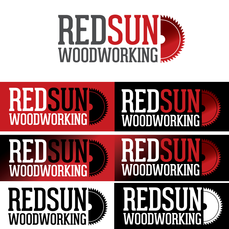Logo Design by Dimitris Koletsis - Entry No. 126 in the Logo Design Contest Red Sun Woodworking Logo Design.