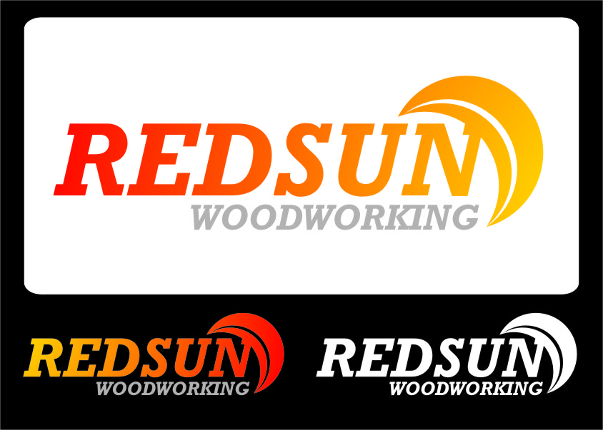 Logo Design by Ngepet_art - Entry No. 130 in the Logo Design Contest Red Sun Woodworking Logo Design.
