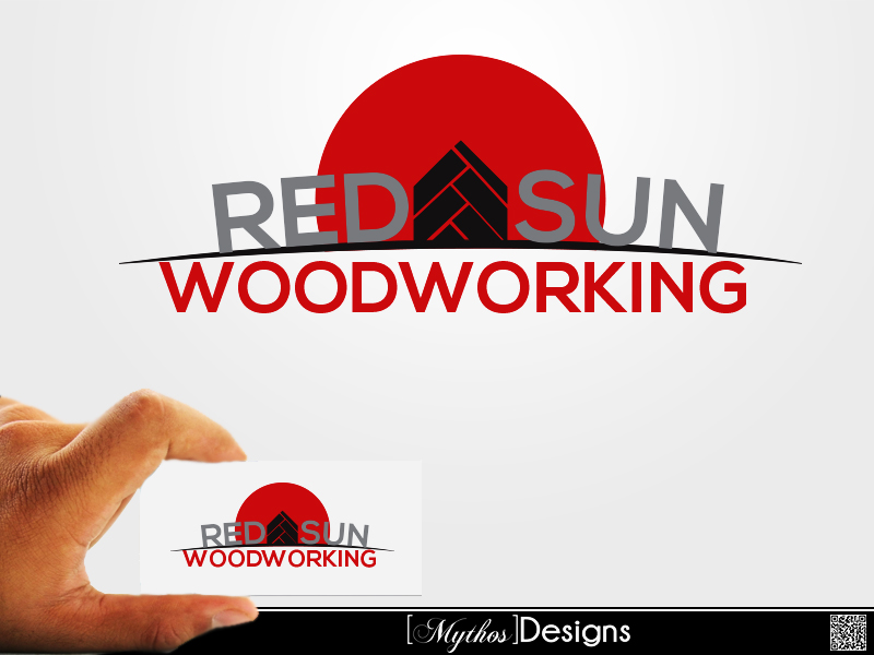 Logo Design by Mythos Designs - Entry No. 132 in the Logo Design Contest Red Sun Woodworking Logo Design.